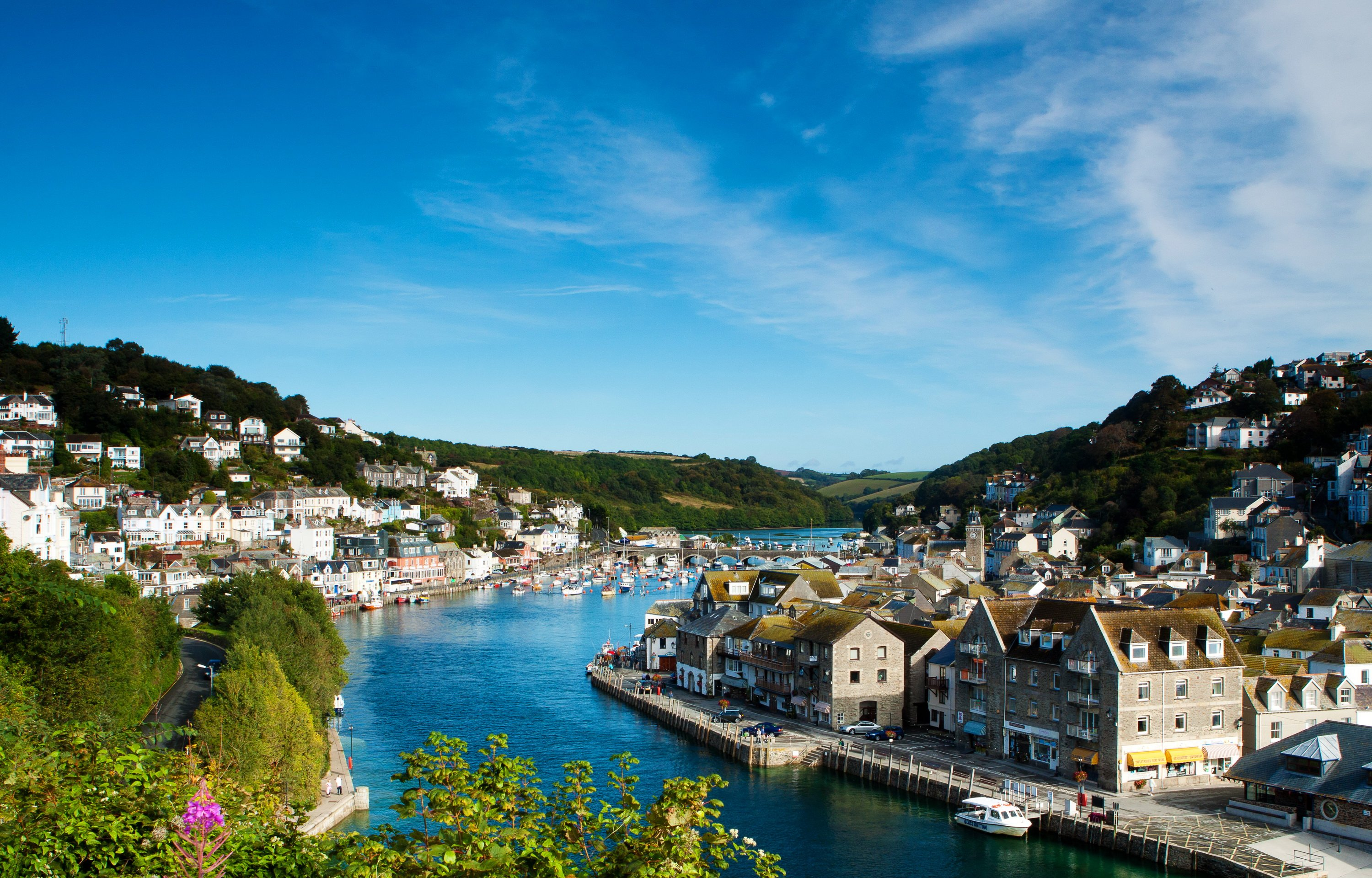 England_Houses_Rivers_Looe_Cornwall_Cities_3000x1920