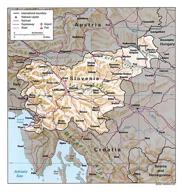 detailed_relief_and_road_map_of_slovenia_1