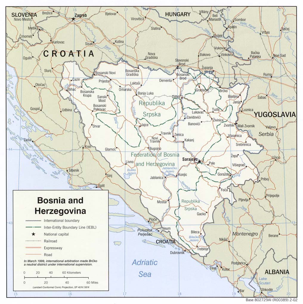administrative_and_road_map_of_bosnia-and_herzegovina