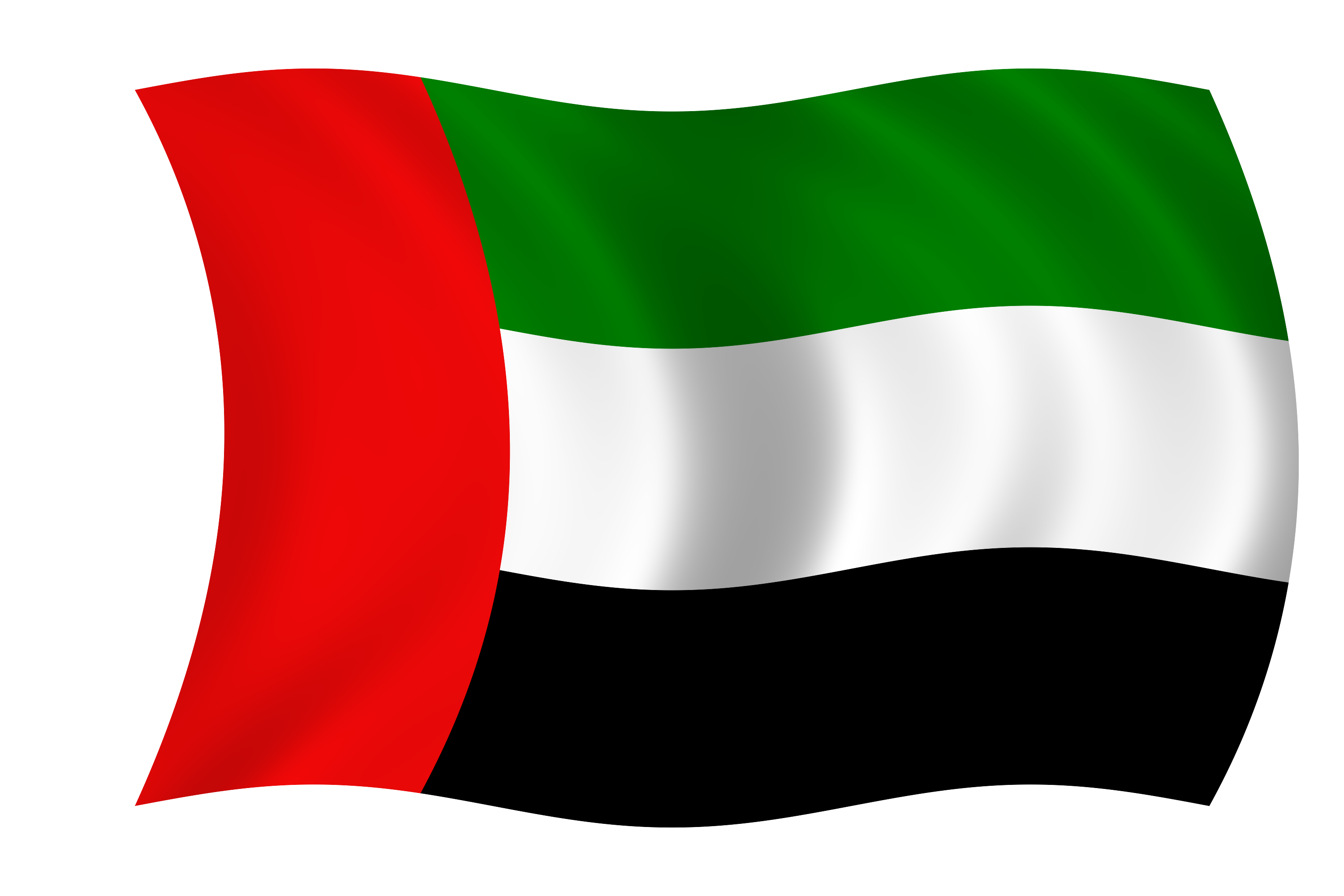 waving flag of the united arab emirates