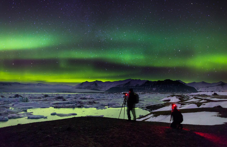 Jokulsarlon-Aurora-Iceland