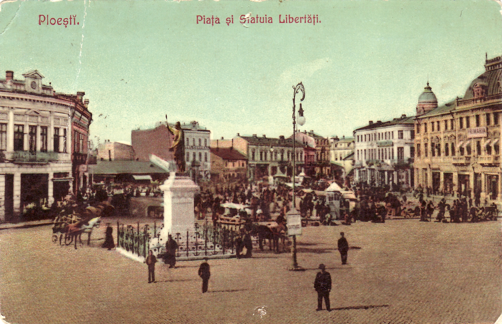 Ploiești - Piața și statuia Libertății